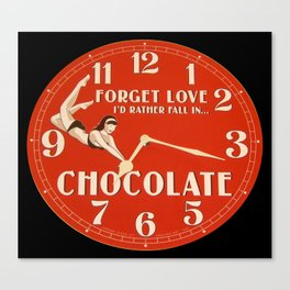GIVE TIME TO THE CHOCOHOLIC IN YOUR LIFE Canvas Print