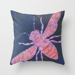 batik Bee Throw Pillow