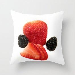 Strawberry Blackberry Throw Pillow