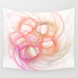 Hearts made by Eleonora Wall Tapestry