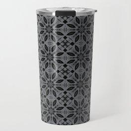 Sharkskin Floral Pattern Travel Mug