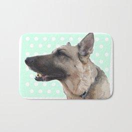 Lucy German shepherd Bath Mat