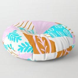 spring leaf patchwork quilt Floor Pillow