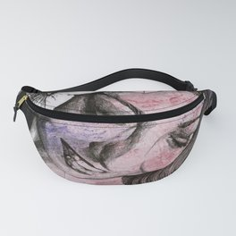 In The Year Of Our Lord (smiling flower lady portrait) Fanny Pack