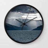 alaska Wall Clocks featuring Alaska by Paweł Kotas