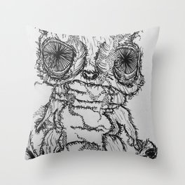 smelly hamster Throw Pillow