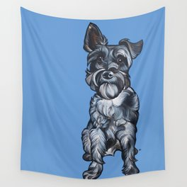 Rupert the Miniature Schnauzer Wall Tapestry