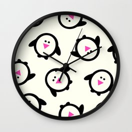 Happy Feet Holiday Collection Penguins Wall Clock