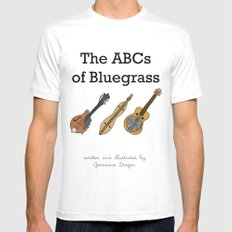 The ABCs of Bluegrass White MEDIUM Mens Fitted Tee