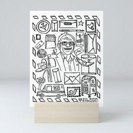 Bernie Sanders & Birdie Mini Art Print