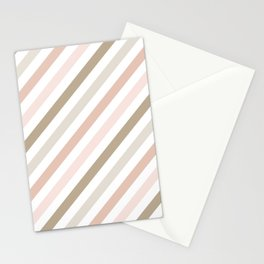 Pink & Gold Diag Stationery Cards