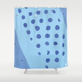 Modern Contemporary Monochromatic Dotted Background in Blue Color GC-118-5 Shower Curtain