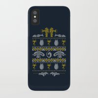 xenomorph iPhone & iPod Cases featuring A Christmas Bug Hunt by Stationjack