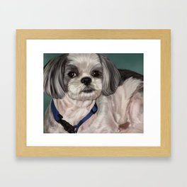 Shih Tzu Painting Framed Art Print