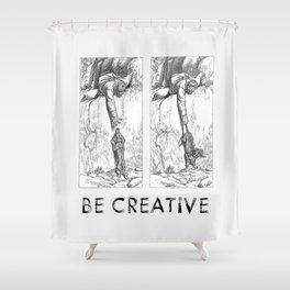 BE CREATIVE - Funny Dachshund Dog Illustration Shower Curtain