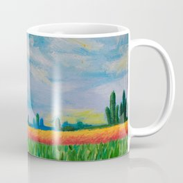 Monet's Expressionism Wheat Field Coffee Mug