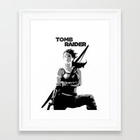 tomb raider Framed Art Prints featuring Tomb Raider by Krbshadow