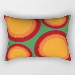 70s retro chic  - Sunspots in Green Rectangular Pillow