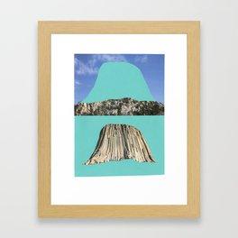 Cave, reverse cave. Framed Art Print