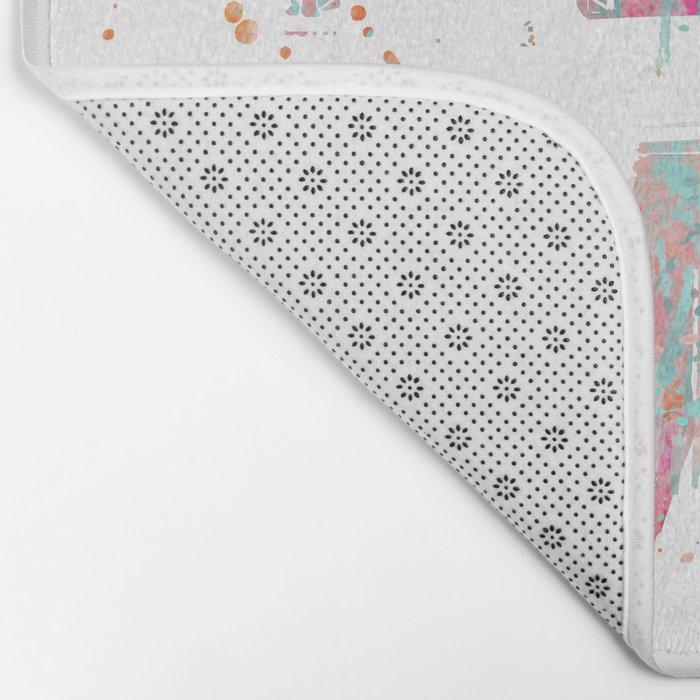 Home grunge artistic Typography Bath Mat
