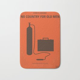 No253 My No Country for Old men minimal movie poster Bath Mat