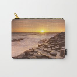 The Giant's Causeway in Northern Ireland at sunset Carry-All Pouch
