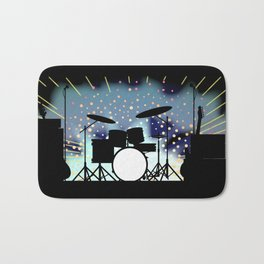 Bright Rock Band Stage Bath Mat