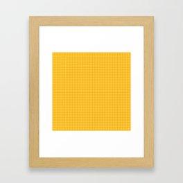 YELLOW GRID Framed Art Print