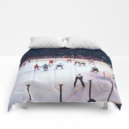 Vintage Hockey Match Comforters