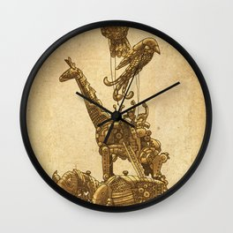 Mechanical Menagerie Wall Clock