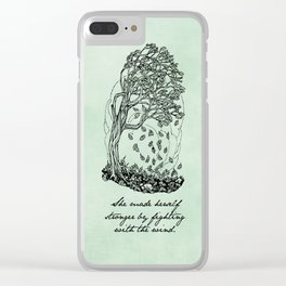 The Secret Garden - She Made Herself Stronger Clear iPhone Case