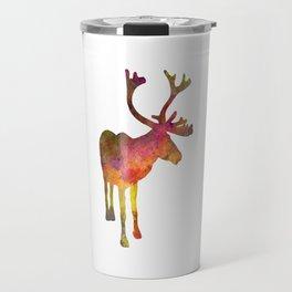 Reindeer 02 in watercolor Travel Mug