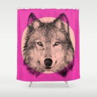 eric fan Shower Curtains featuring Wild 7 by Eric Fan & Garima Dhawan by Garima Dhawan