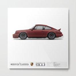 Porsche 1980 911SC Burgundy Metallic Metal Print