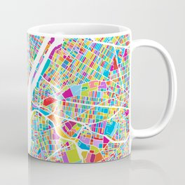 New York City Manhattan Colorful Map Coffee Mug