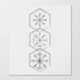 Three runes Canvas Print