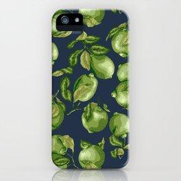 Lime Dark Pattern iPhone Case