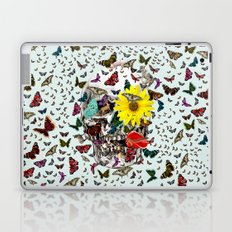 Skull Flowers Animals on MINT | Butterflies Laptop & iPad Skin