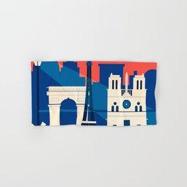 Abstract Paris Hand & Bath Towel