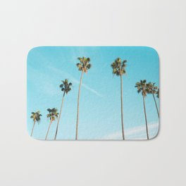 Tropical Miami Palm Trees Bath Mat