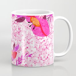 Pink Spring Flowers Mosaic Terrazzo Coffee Mug