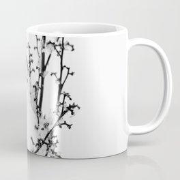 Plant Covered With Snow Coffee Mug