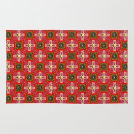 Christmas Garden Pattern Rug