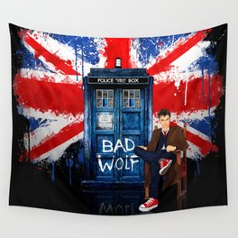 British Bad Wolf Wall Tapestry