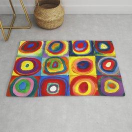 Kandinsky, Farbstudie - Quadrate und konzentrische Ringe, Color Study. Squares with Concentric Circles 1913 Rug