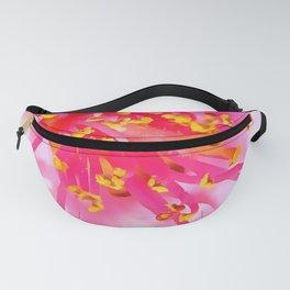 Artistic Peach Blossom Macro Fanny Pack