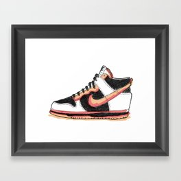 Dunk Hight sneakers Framed Art Print