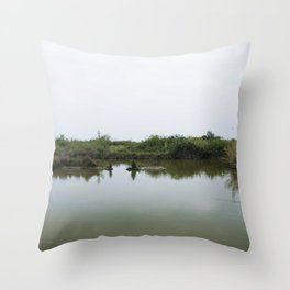 Peaceful lagoon Throw Pillow