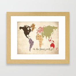 The Places You'll Go scrapbook-style print #1 Framed Art Print