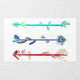Feather arrows Rug